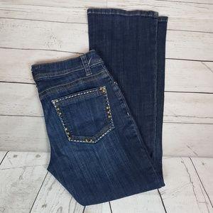 Lee Slender Secret Stud Trim Jeans Sz 6P